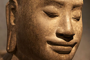 Buddha serene smile