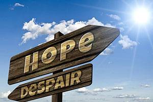 hope and despair signpost